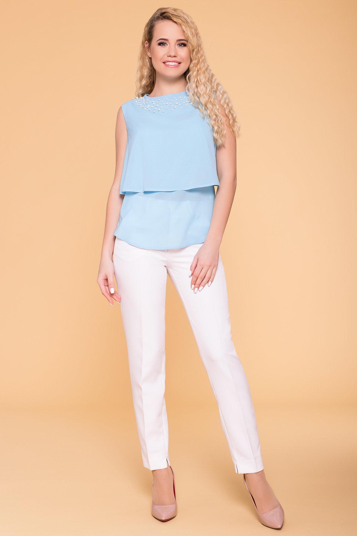 Блуза Арома 5275 АРТ. 37047 Цвет: Голубой - фото 1, интернет магазин tm-modus.ru