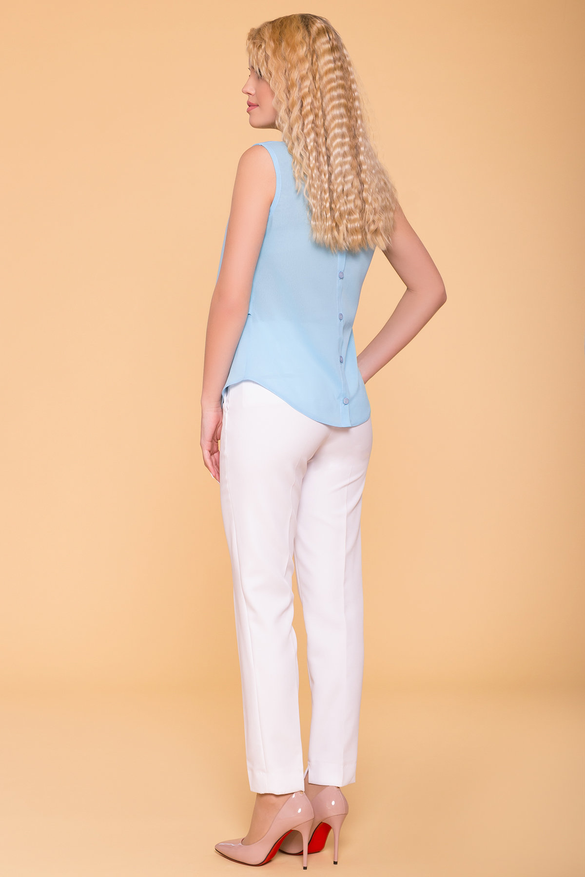 Блуза Арома 5275 АРТ. 37047 Цвет: Голубой - фото 2, интернет магазин tm-modus.ru