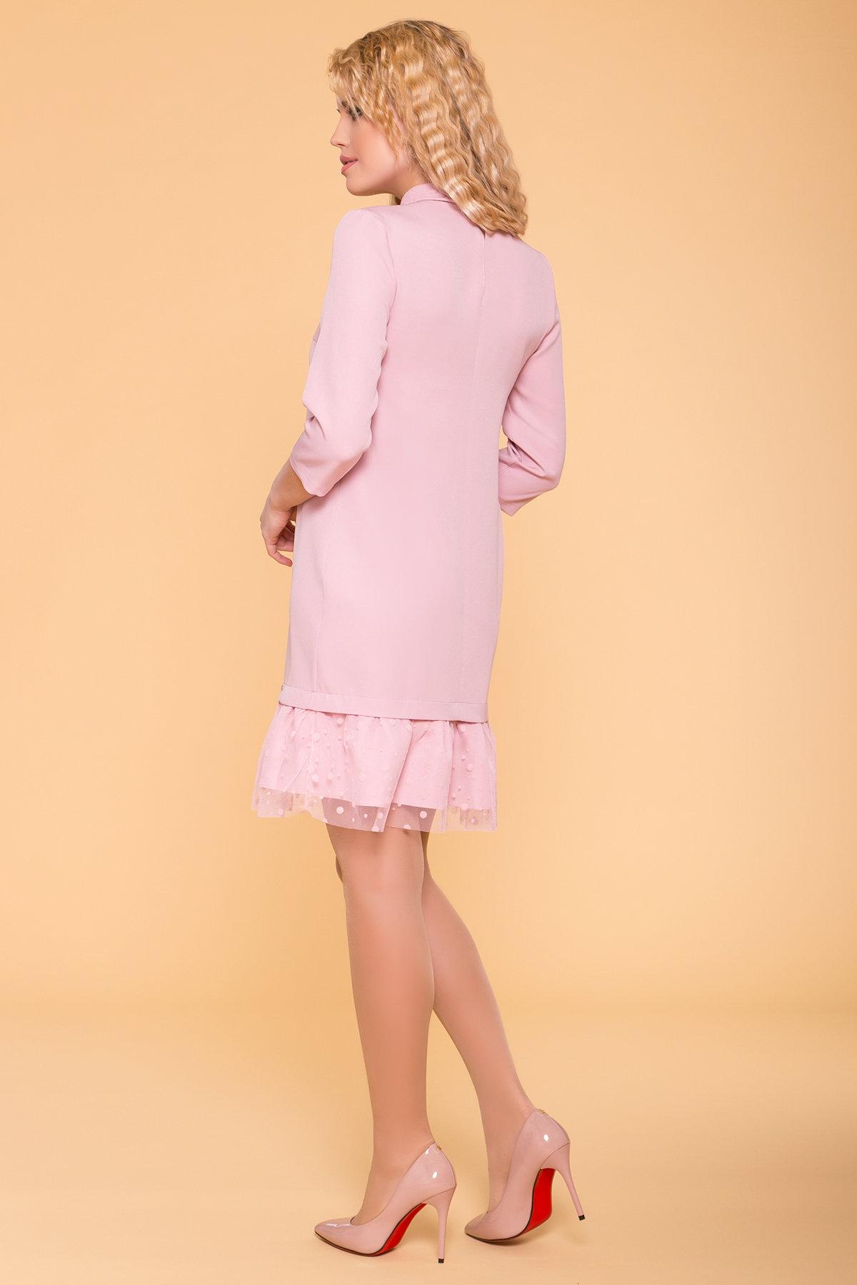 Платье Грейси 5949 АРТ. 41719 Цвет: Пудра 138 - фото 2, интернет магазин tm-modus.ru