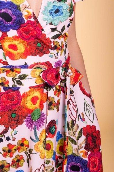 Платье Мидея 6523 Цвет: Цветы комби розовый светлый