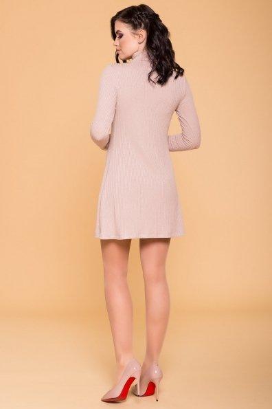 Мини Платье Капелини 6491 Цвет: Пудра с люрексом 1