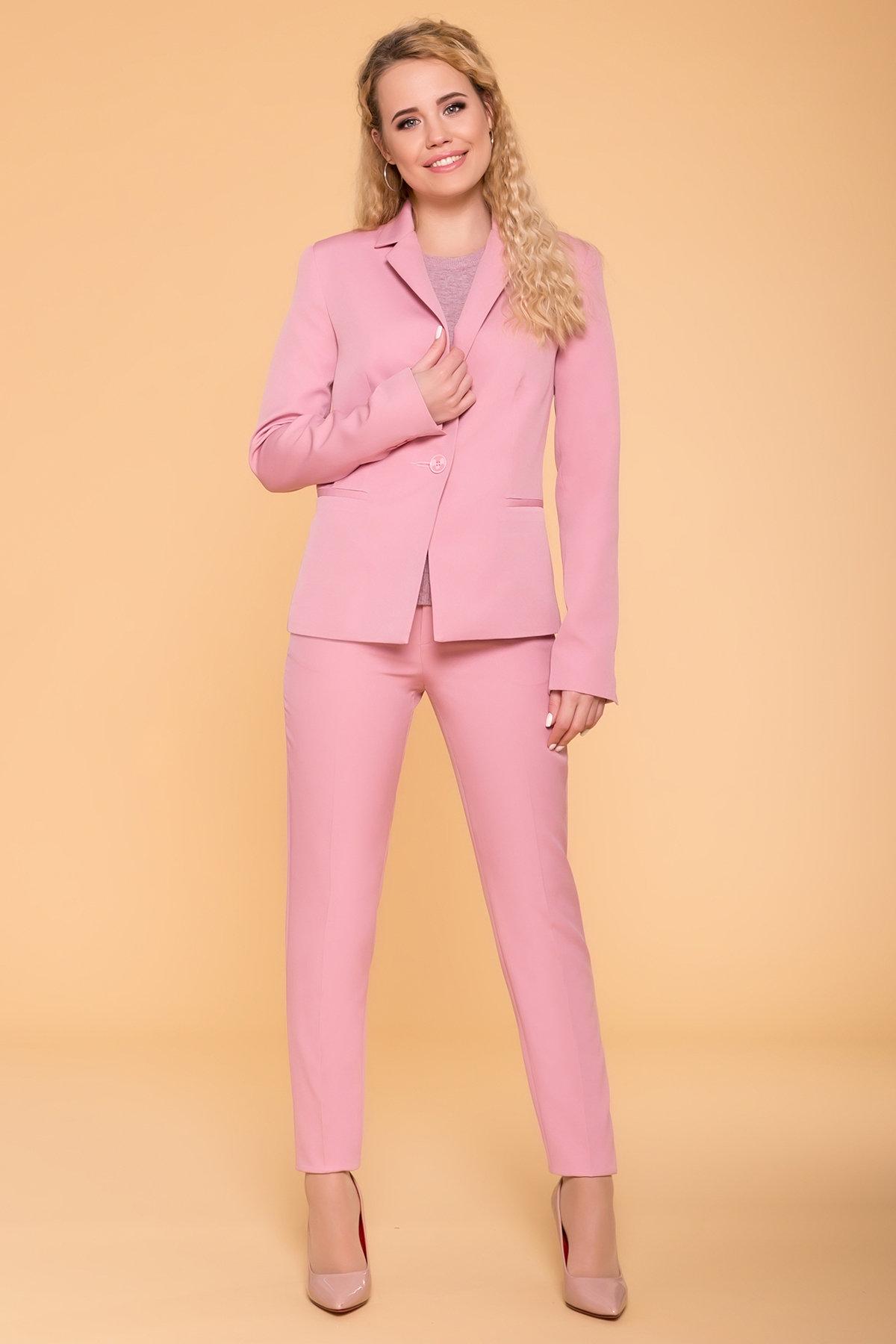 Базовые брюки со стрелками Эдвин 2467 АРТ. 41707 Цвет: Пудра - фото 3, интернет магазин tm-modus.ru
