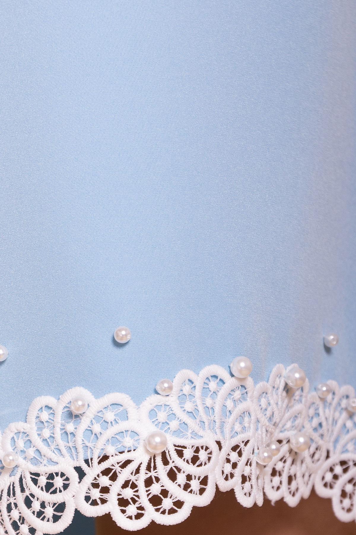 Платье с рукавом фонарик Алексис 6650 АРТ. 41755 Цвет: Голубой - фото 4, интернет магазин tm-modus.ru