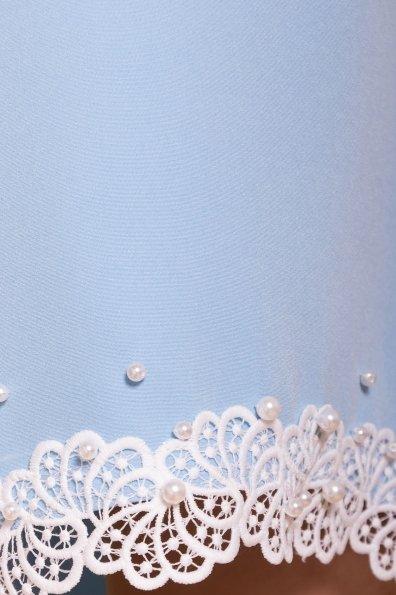 Платье с рукавом фонарик Алексис 6650 Цвет: Голубой