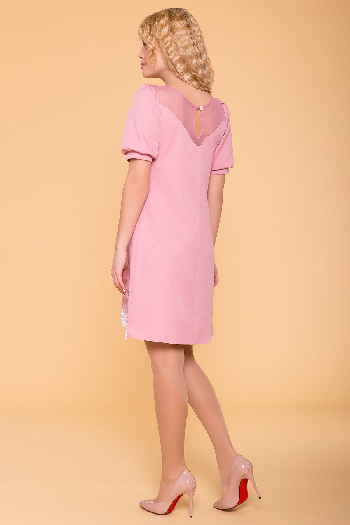 Платье с рукавом фонарик Алексис 6650 АРТ. 41754 Цвет: Пудра 15 - фото 2, интернет магазин tm-modus.ru