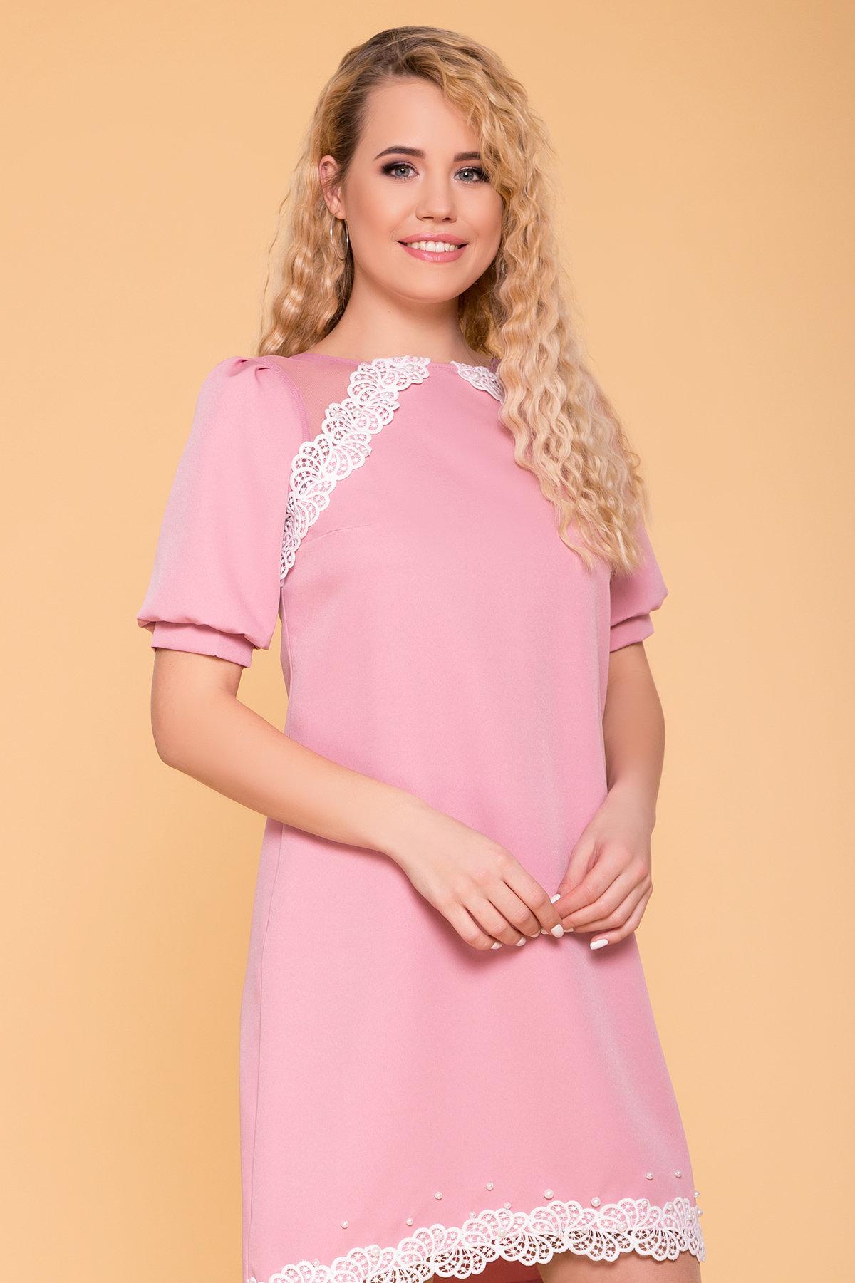 Платье с рукавом фонарик Алексис 6650 АРТ. 41754 Цвет: Пудра 15 - фото 3, интернет магазин tm-modus.ru