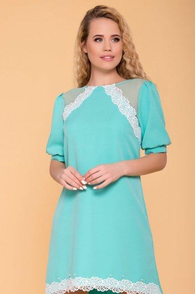 Платье с рукавом фонарик Алексис 6650 Цвет: Мята