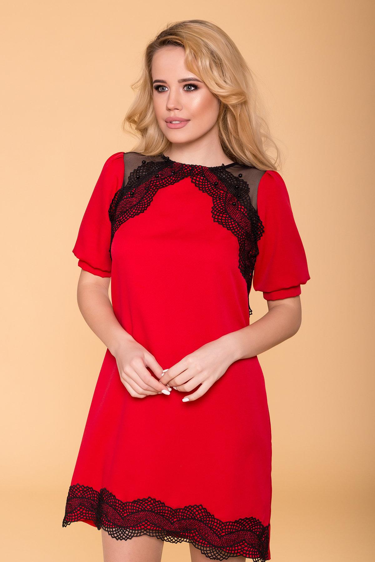 Платье Алексис 6650 Цвет: Красный