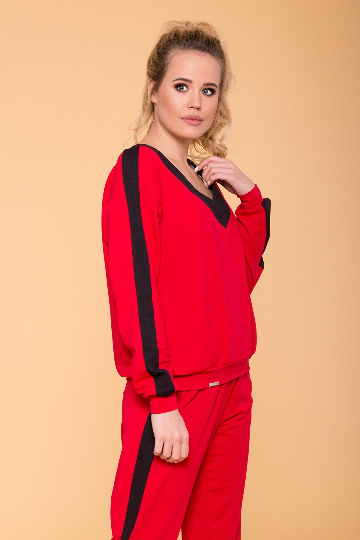 Костюм Стай 6736 АРТ. 41812 Цвет: Красный/черный - фото 3, интернет магазин tm-modus.ru