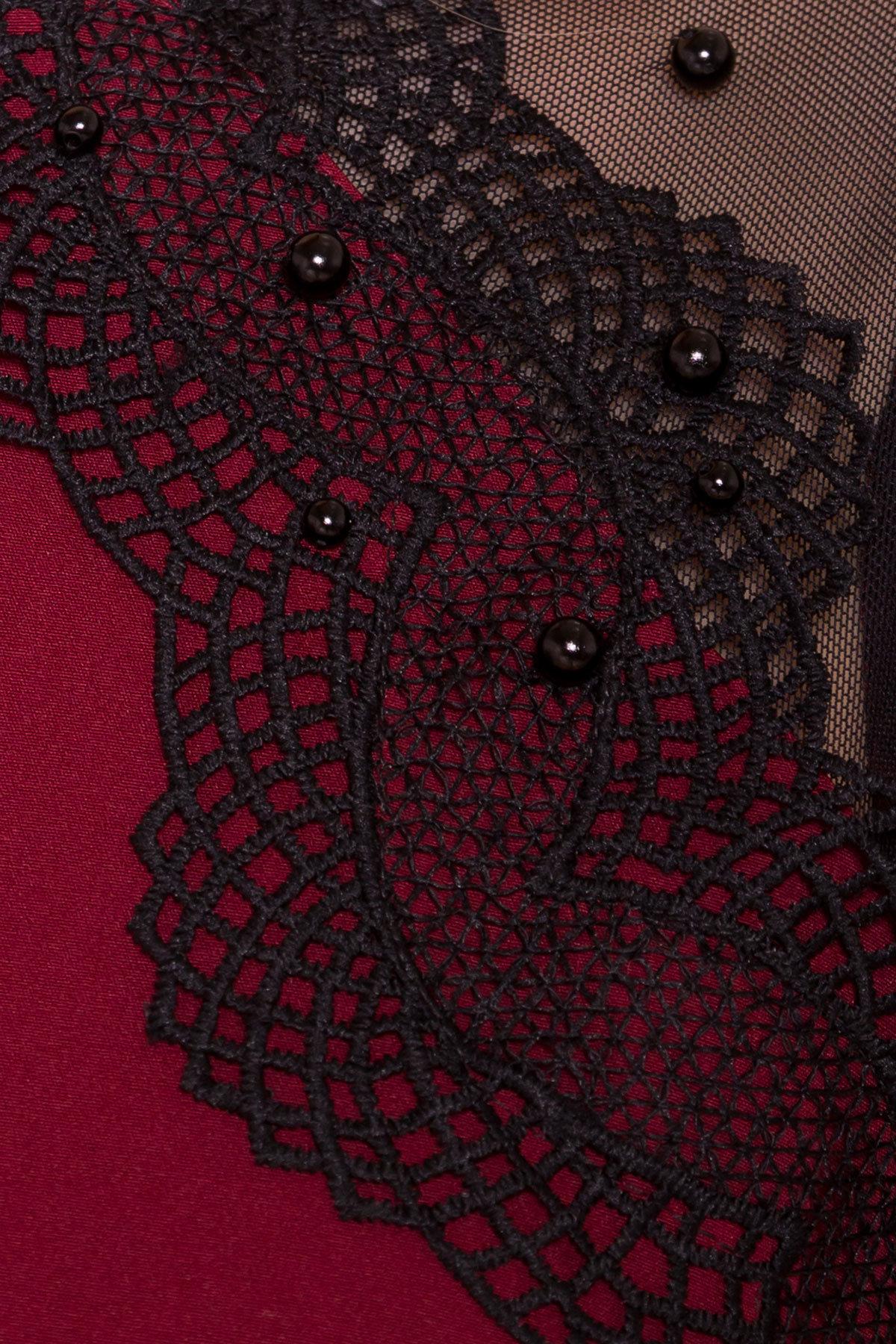 Платье с рукавом фонарик Алексис 6650 АРТ. 41758 Цвет: Марсала - фото 4, интернет магазин tm-modus.ru