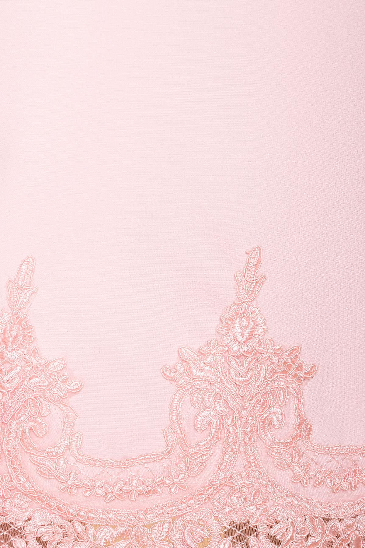 Однотонное платье с рукавом фонарик Лера 6433 АРТ. 41927 Цвет: Пудра светлая 11 - фото 4, интернет магазин tm-modus.ru