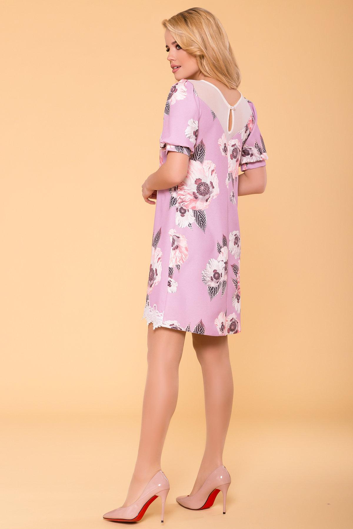 Платье Алексис 6752 АРТ. 41840 Цвет: цветы пудра темная - фото 2, интернет магазин tm-modus.ru