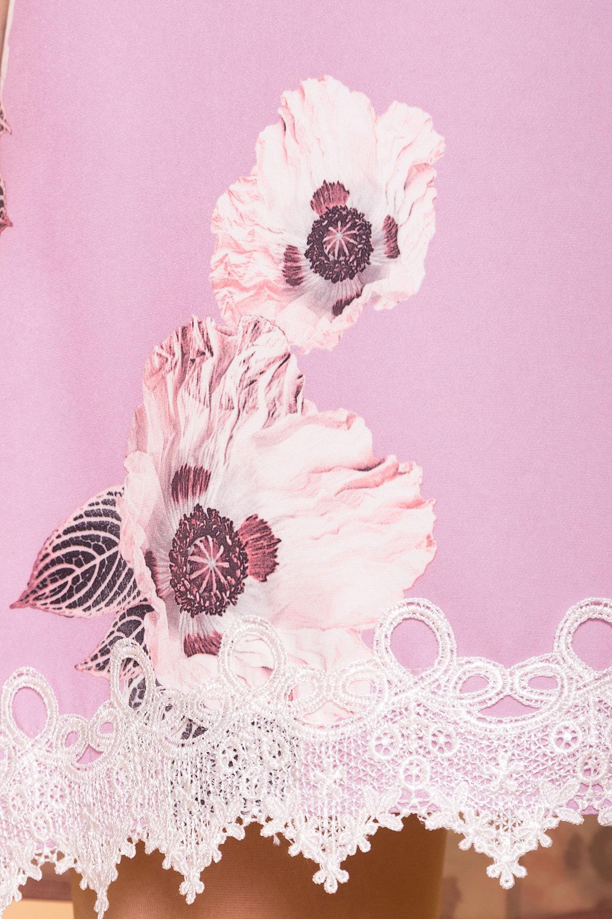 Платье Алексис 6752 АРТ. 41840 Цвет: цветы пудра темная - фото 4, интернет магазин tm-modus.ru