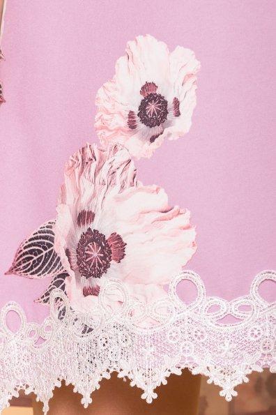 Платье Алексис 6752 Цвет: цветы пудра темная