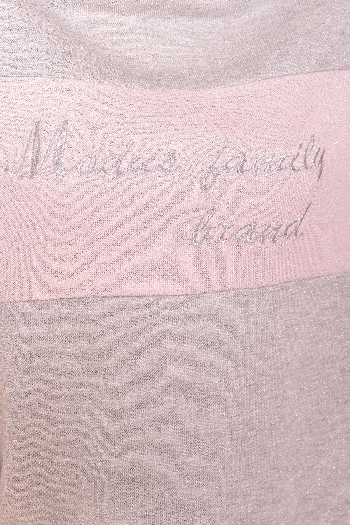 Костюм Фемили  6657 АРТ. 41752 Цвет: Серый светлый/Розовый - фото 5, интернет магазин tm-modus.ru