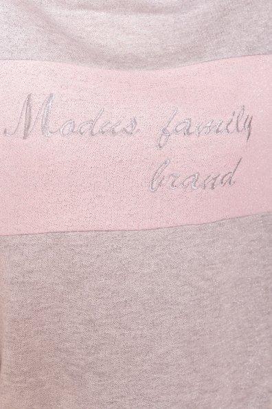 Костюм Фемили  6657 Цвет: Серый светлый/Розовый