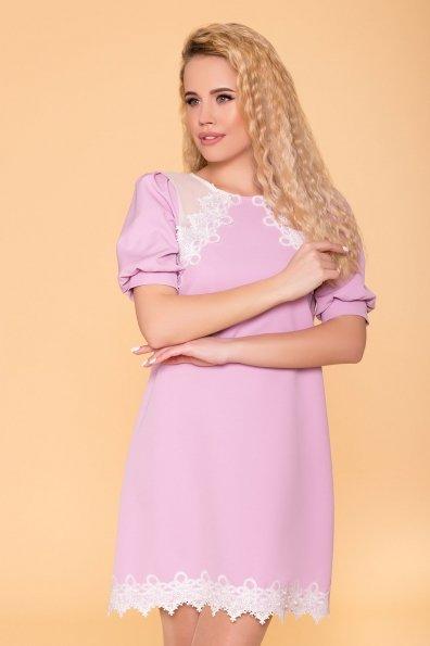 Платье с рукавом фонарик Алексис 6650 Цвет: Пудра светлая 26