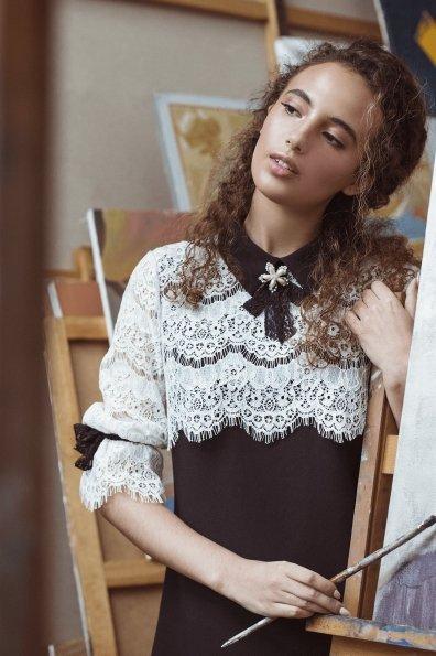 Платье Арабель 4159 Цвет: Черный/молоко