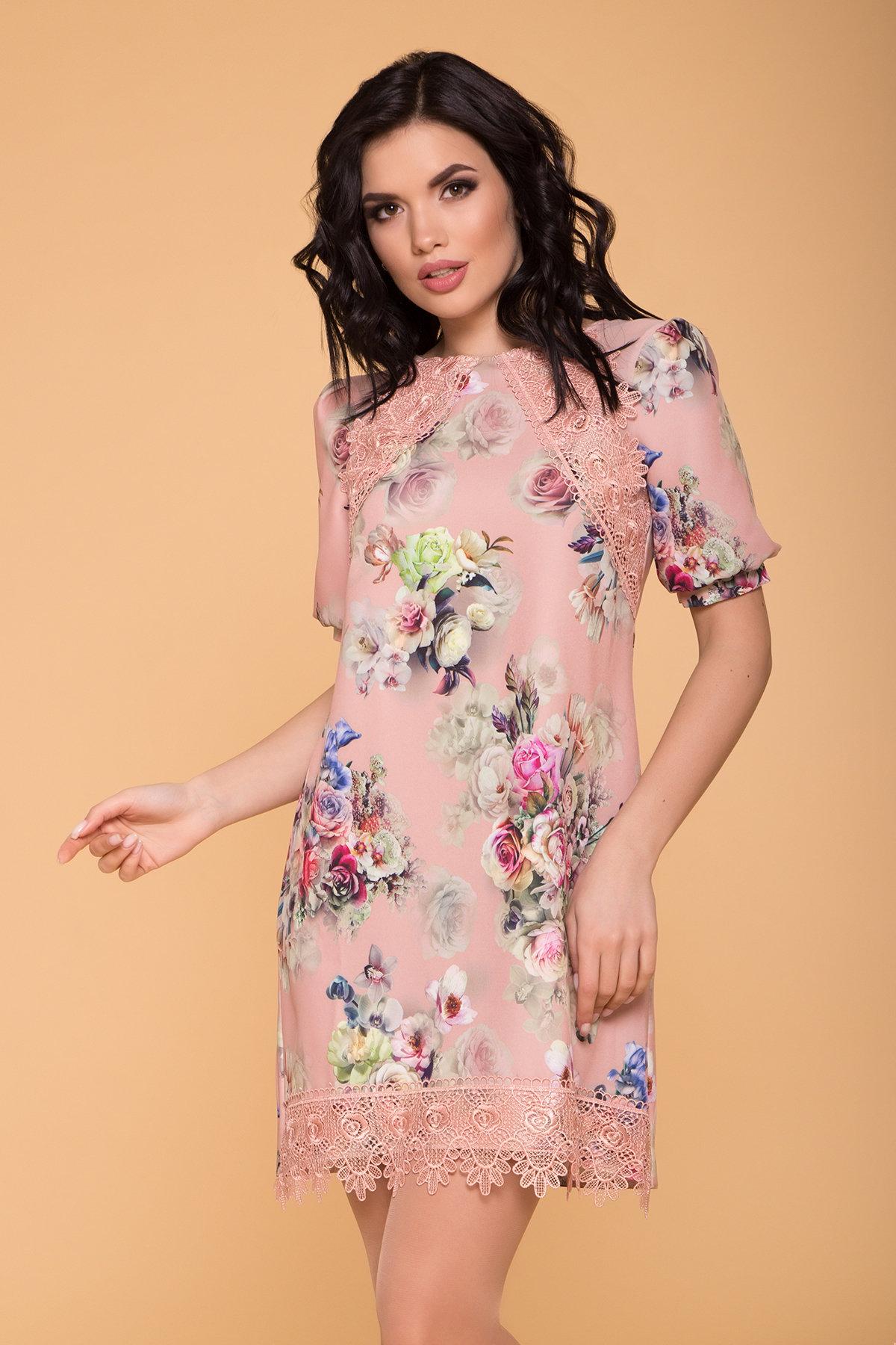 Платье Алексис 6752 АРТ. 41839 Цвет: Пудра Роза - фото 3, интернет магазин tm-modus.ru