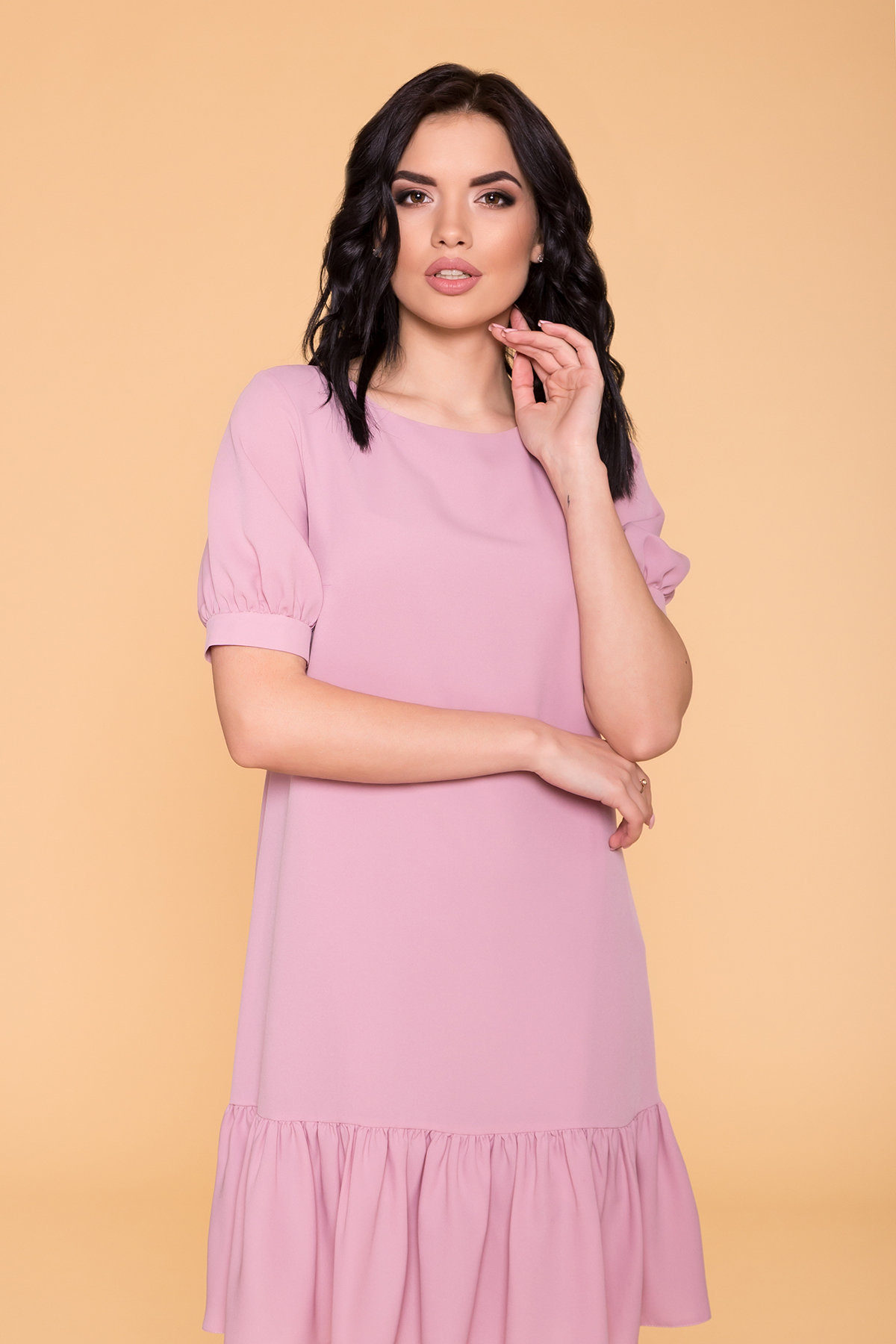 Платье Алиби 6730 АРТ. 41878 Цвет: Серо-розовый 007 - фото 3, интернет магазин tm-modus.ru