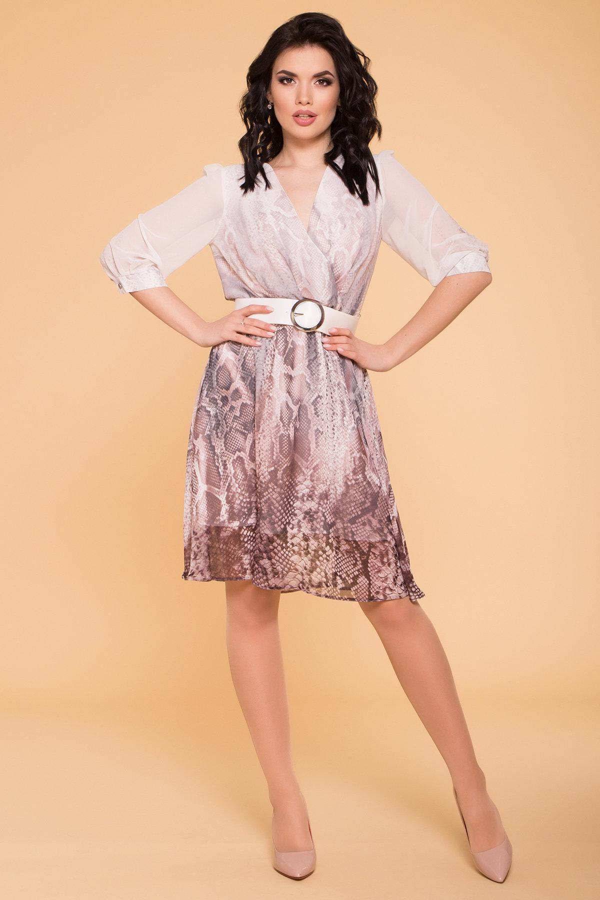 Платье Солар 6522 Цвет: Леоп купон мол/пудр/мол
