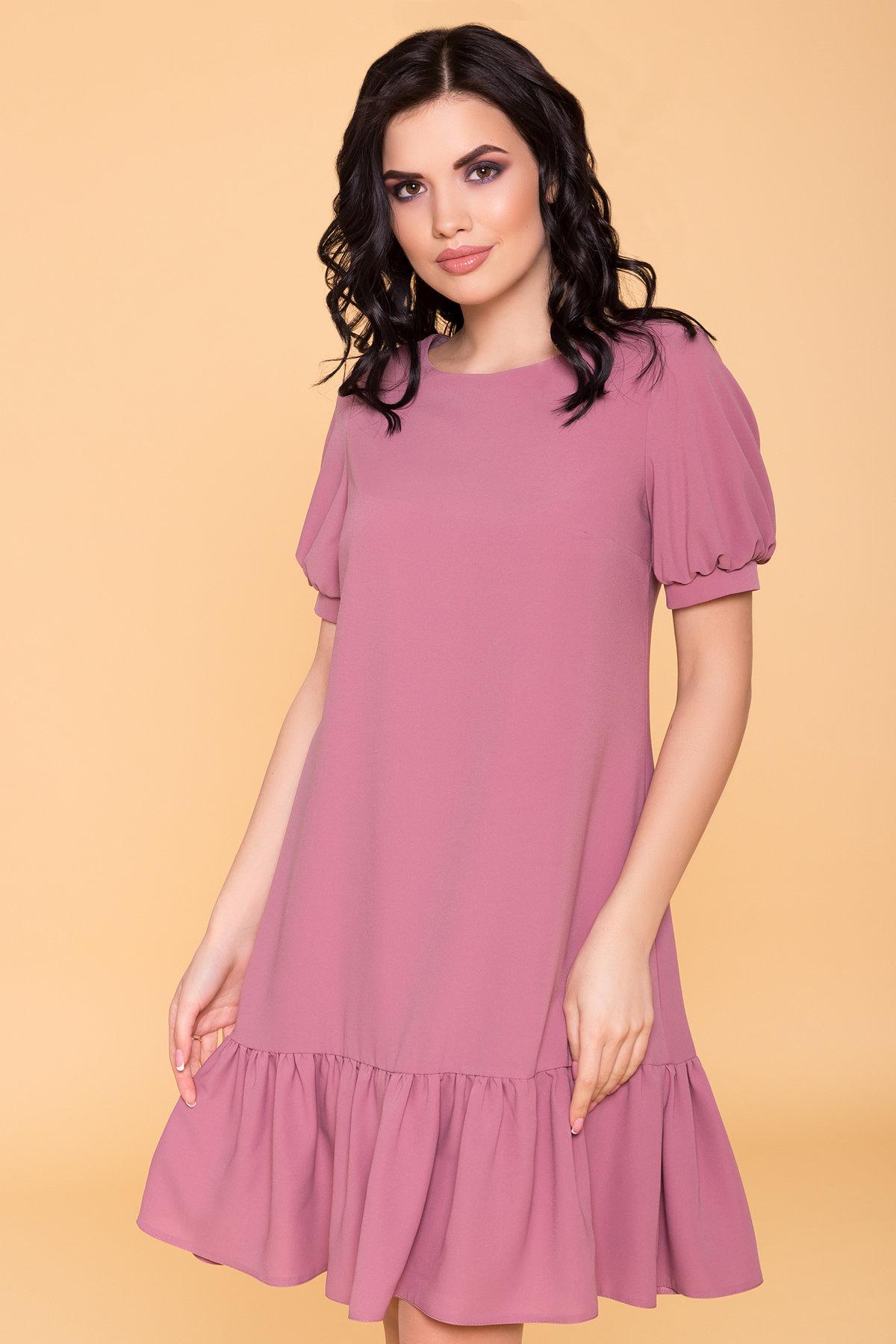 Платье Алиби 6730 АРТ. 41877 Цвет: Серо-розовый тёмный 008 - фото 3, интернет магазин tm-modus.ru