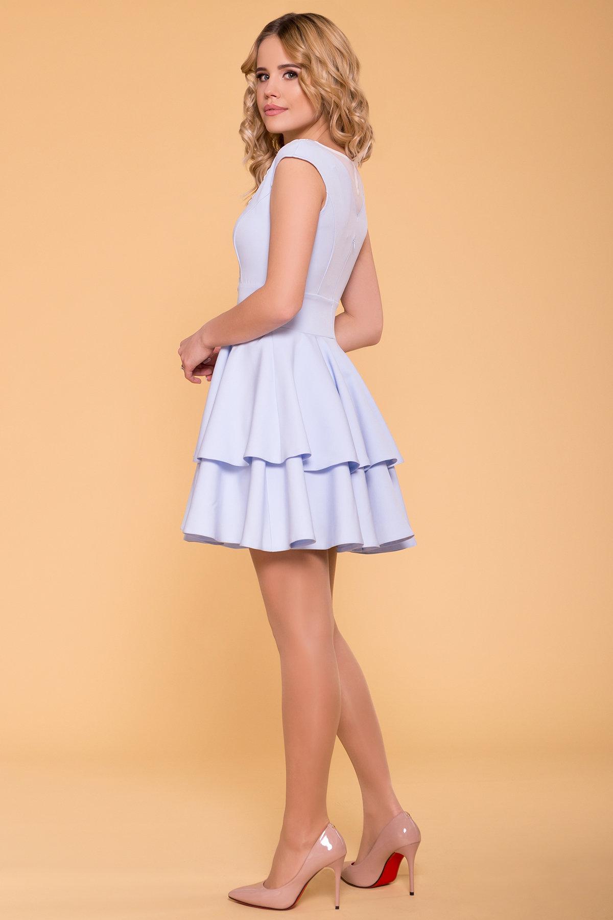 Платье Абико 6651 АРТ. 42013 Цвет: Голубой - фото 2, интернет магазин tm-modus.ru