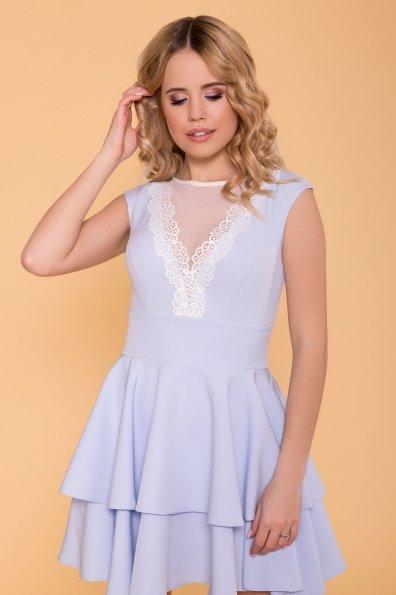 Абико платье из костюмной ткани 6651 Цвет: Голубой
