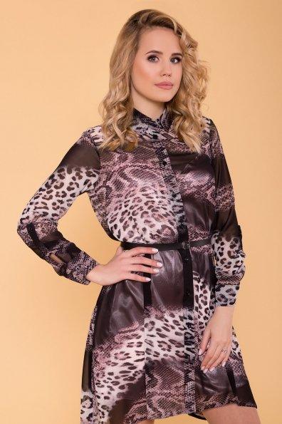 Платье-рубашка Сохо 6783 Цвет: Леоп абстр мол/чер/пудра