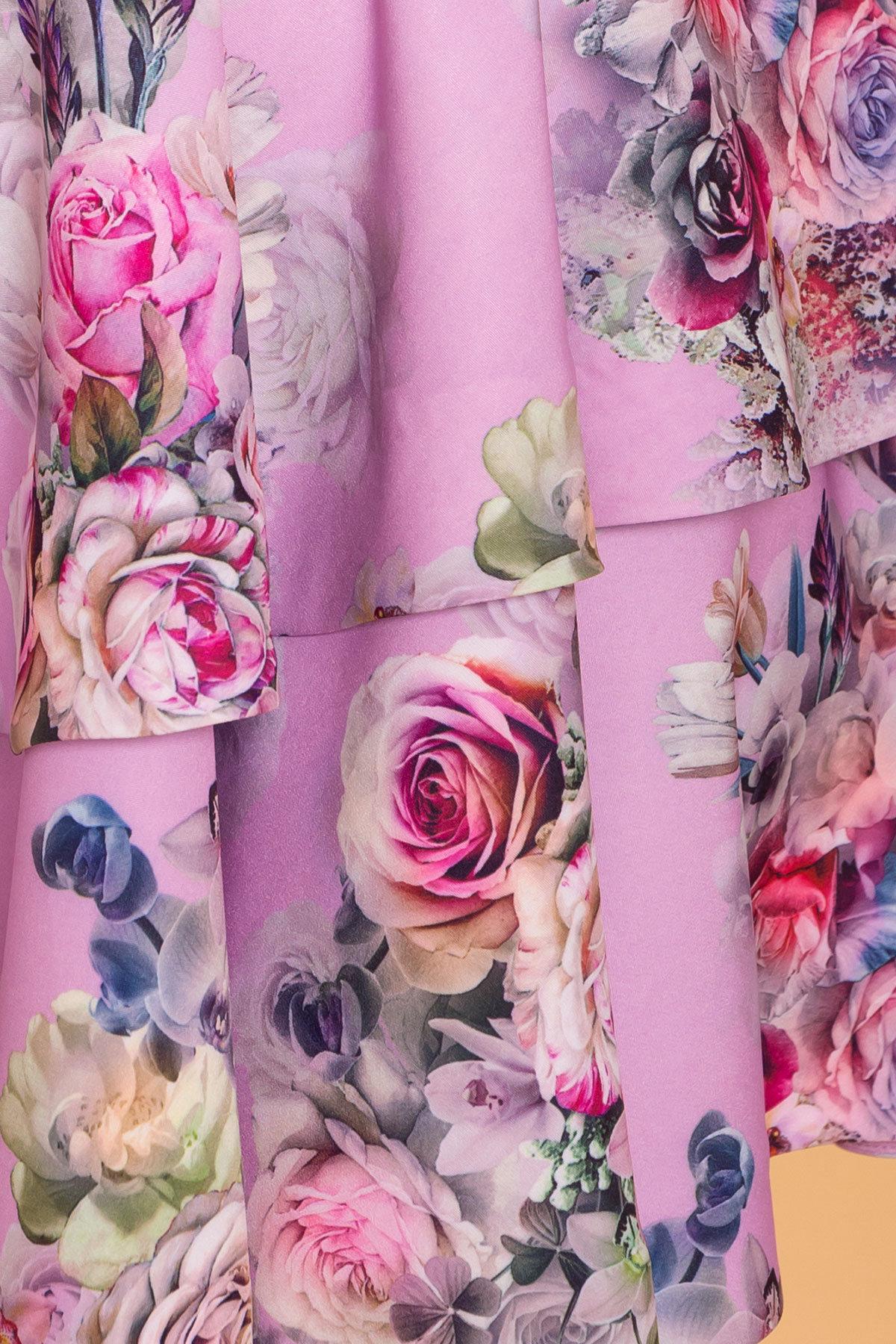 Платье Симур 6785 АРТ. 41882 Цвет: цветы пудра темная - фото 4, интернет магазин tm-modus.ru