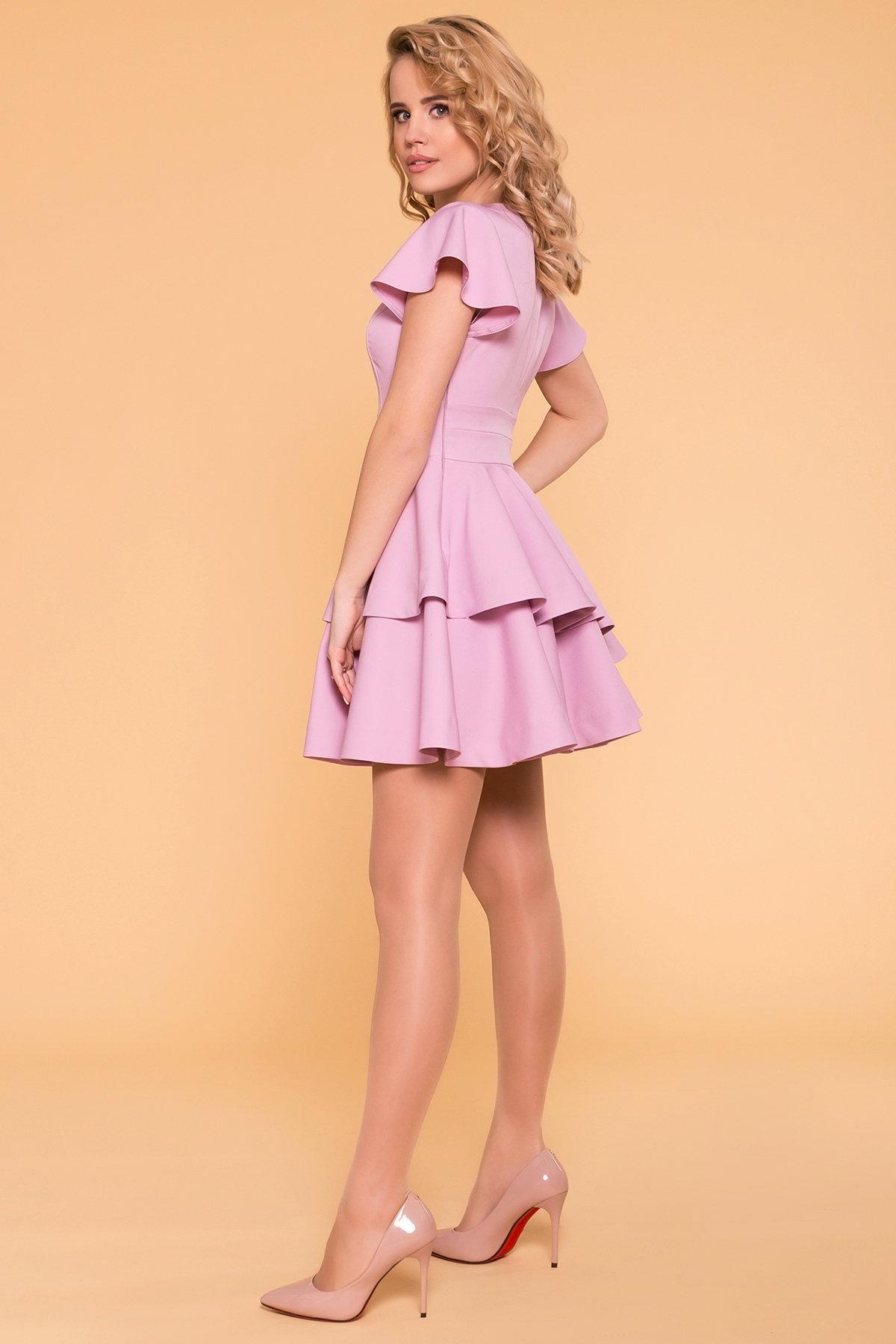 Платье Симур 6888 АРТ. 41987 Цвет: Пудра 3 - фото 4, интернет магазин tm-modus.ru