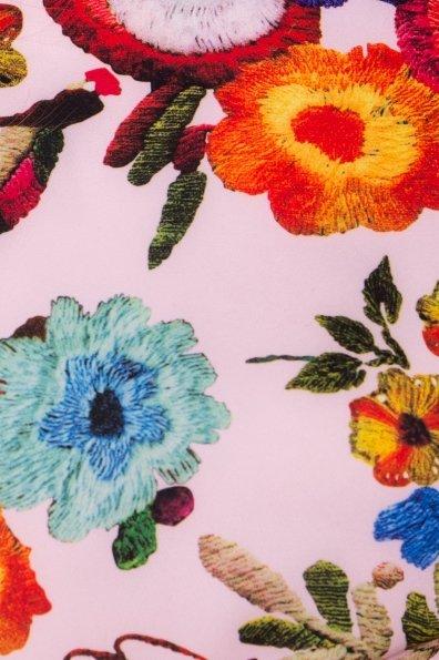 Платье Пиония лайт 942 Цвет: Цветы комби розовый светлый