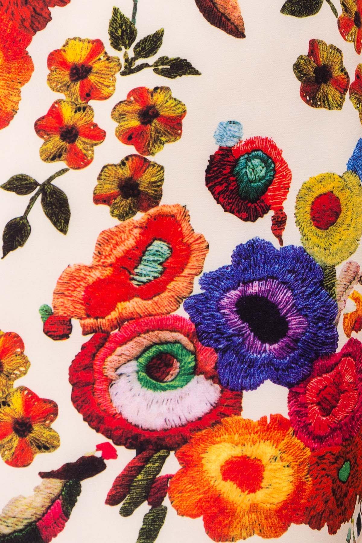 Платье Пиония лайт 942 АРТ. 42007 Цвет: Цветы комби молоко - фото 4, интернет магазин tm-modus.ru