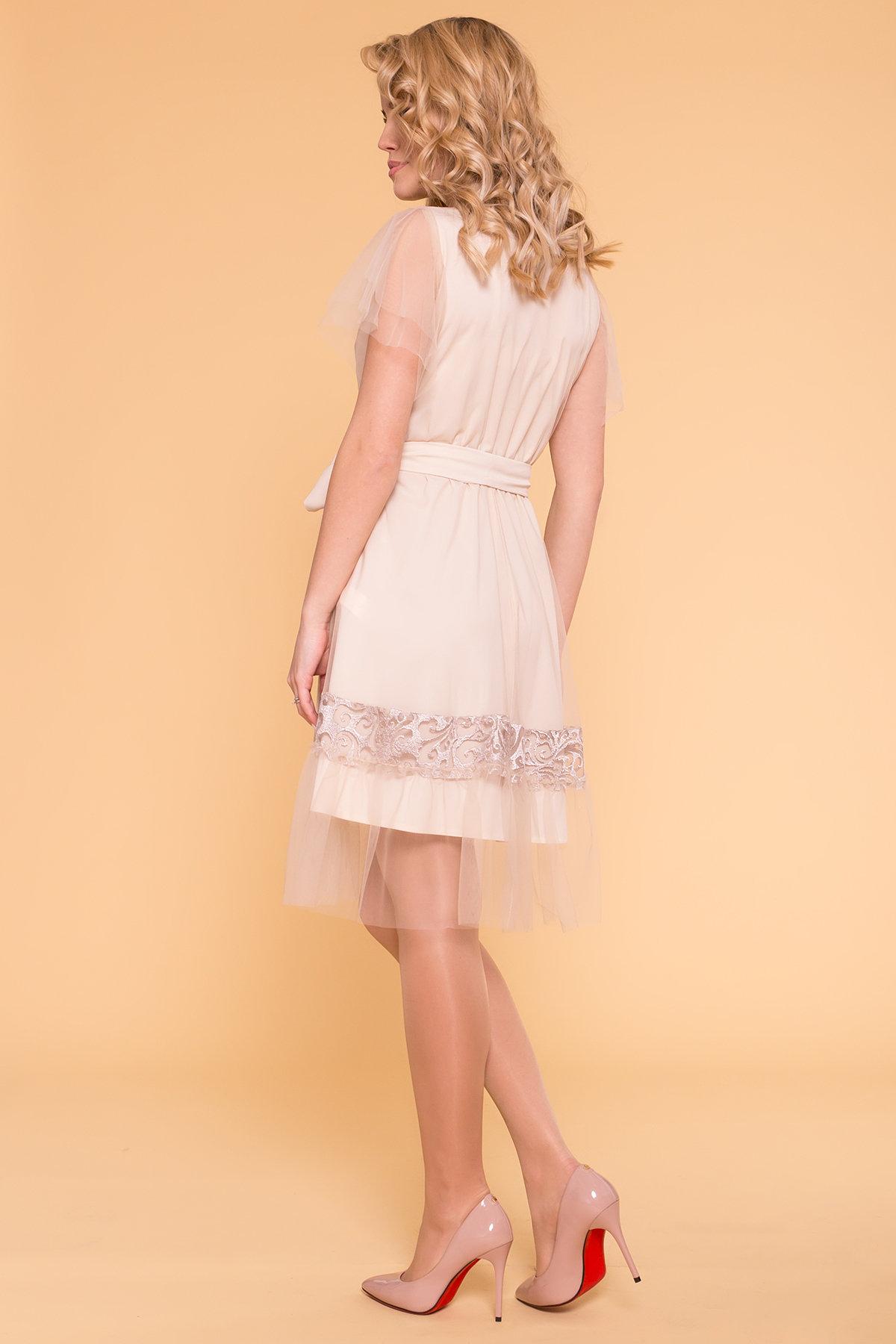 Платье Риана 6701 АРТ. 41937 Цвет: Бежевый/бежевый/бежевый - фото 2, интернет магазин tm-modus.ru