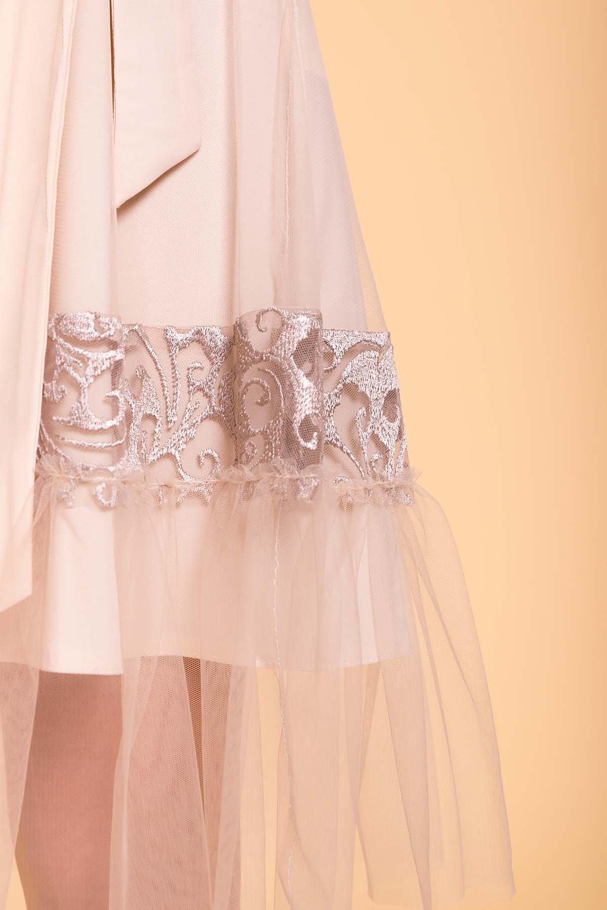 Платье Риана 6701 АРТ. 41937 Цвет: Бежевый/бежевый/бежевый - фото 4, интернет магазин tm-modus.ru