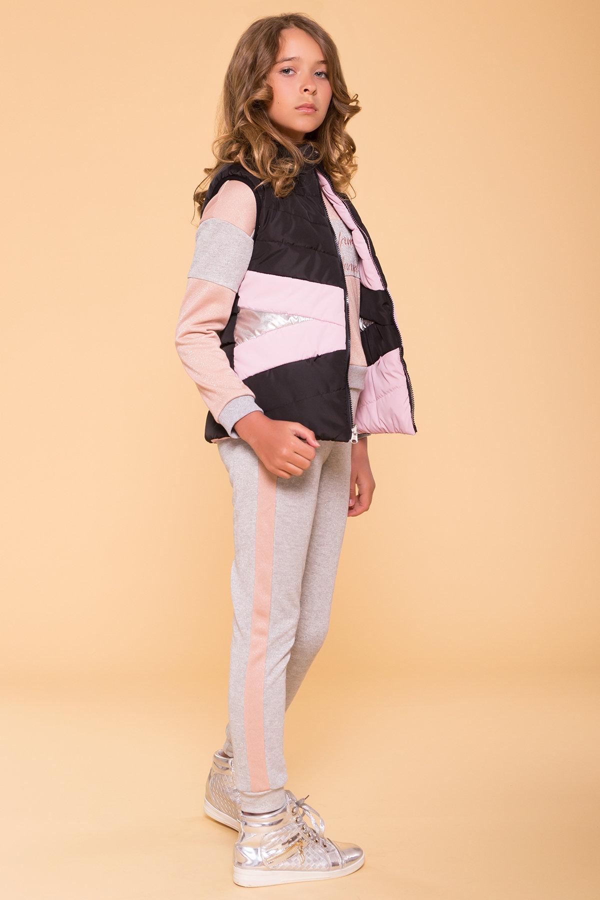 Жилет детский Терра 6875 АРТ. 41957 Цвет: Пудра св/черный - фото 3, интернет магазин tm-modus.ru
