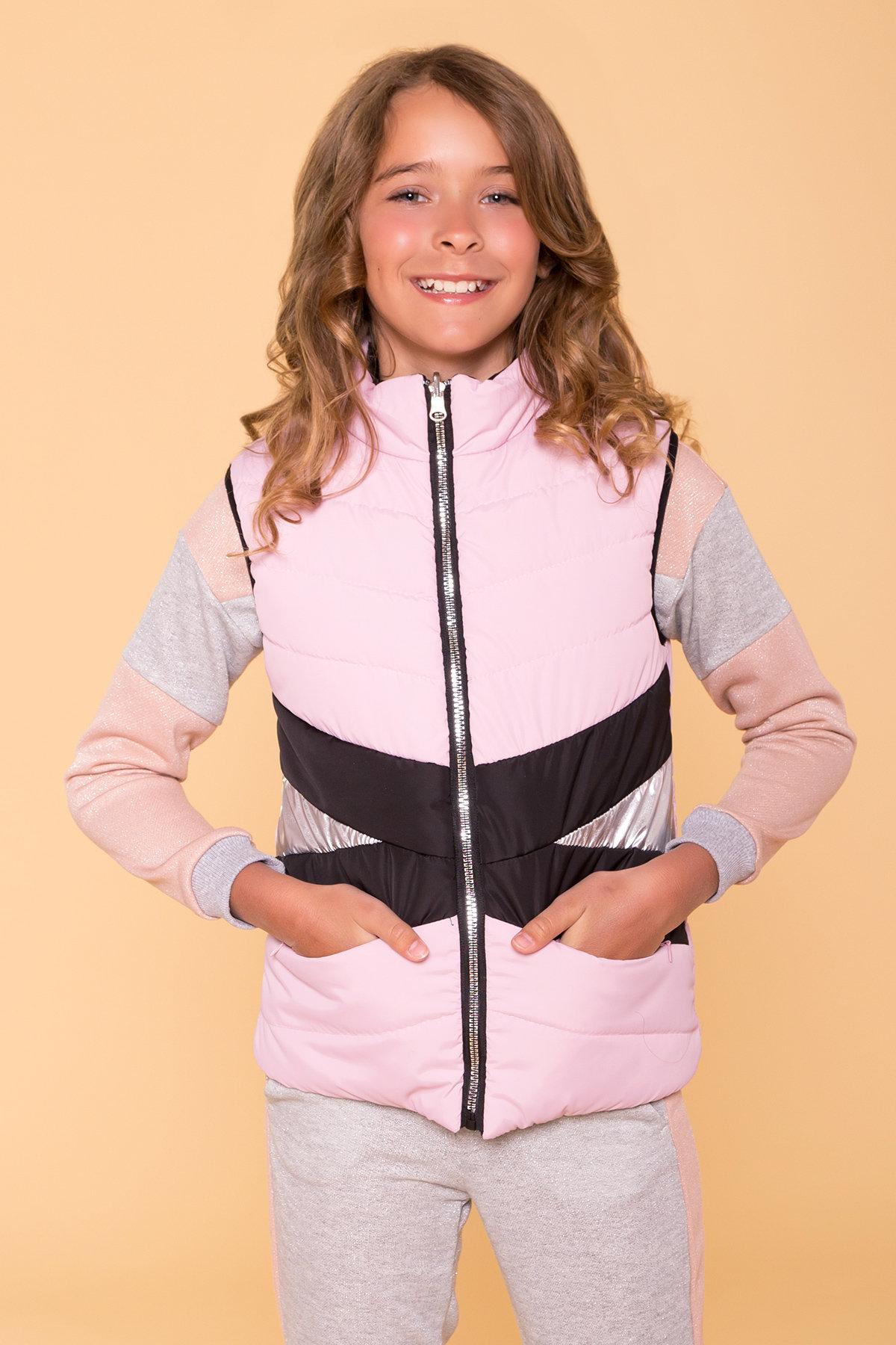 Жилет детский Терра 6875 АРТ. 41957 Цвет: Пудра св/черный - фото 9, интернет магазин tm-modus.ru