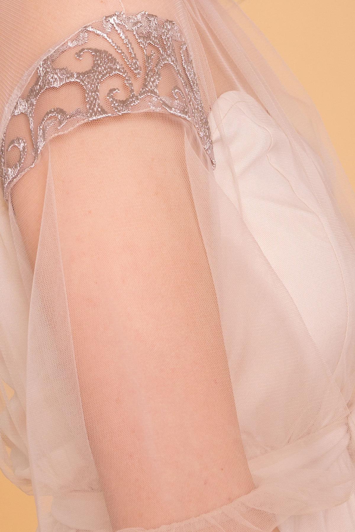 Нарядное Платье Фая 6649 АРТ. 41935 Цвет: Бежевый - фото 4, интернет магазин tm-modus.ru