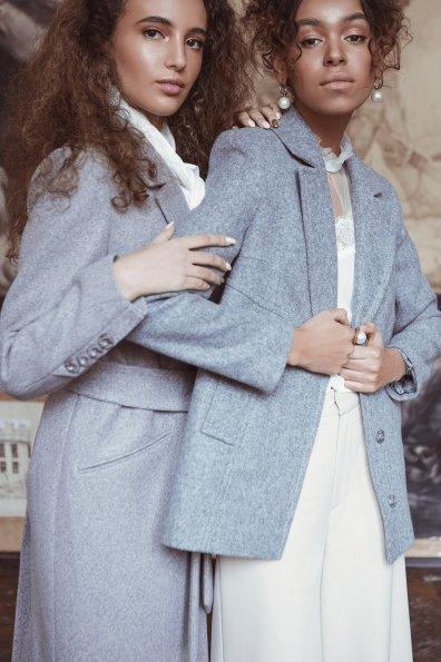 Пальто Нейт 6352 Цвет: Серый/голубой 70