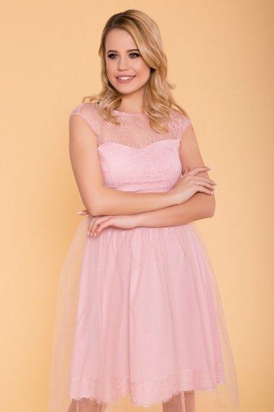 Платье Амур 6872 Цвет: Пудра Светлая/Пудра