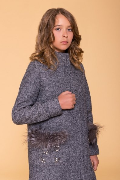 Пальто детское Норма 5286 Цвет: Серый Темный LW-47
