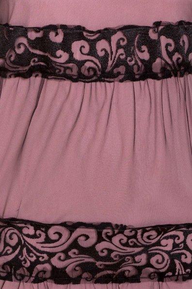 Платье Френсис  6485 Цвет: Серо-розовый/черный
