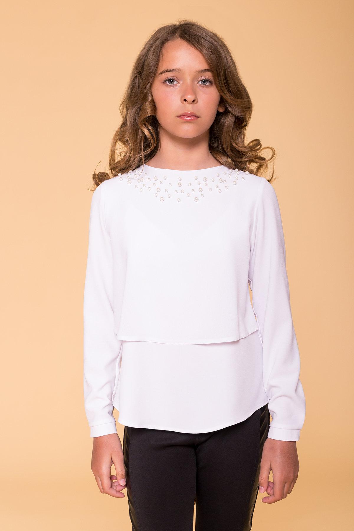 Блуза детская Иксора 5196 Цвет: Белый