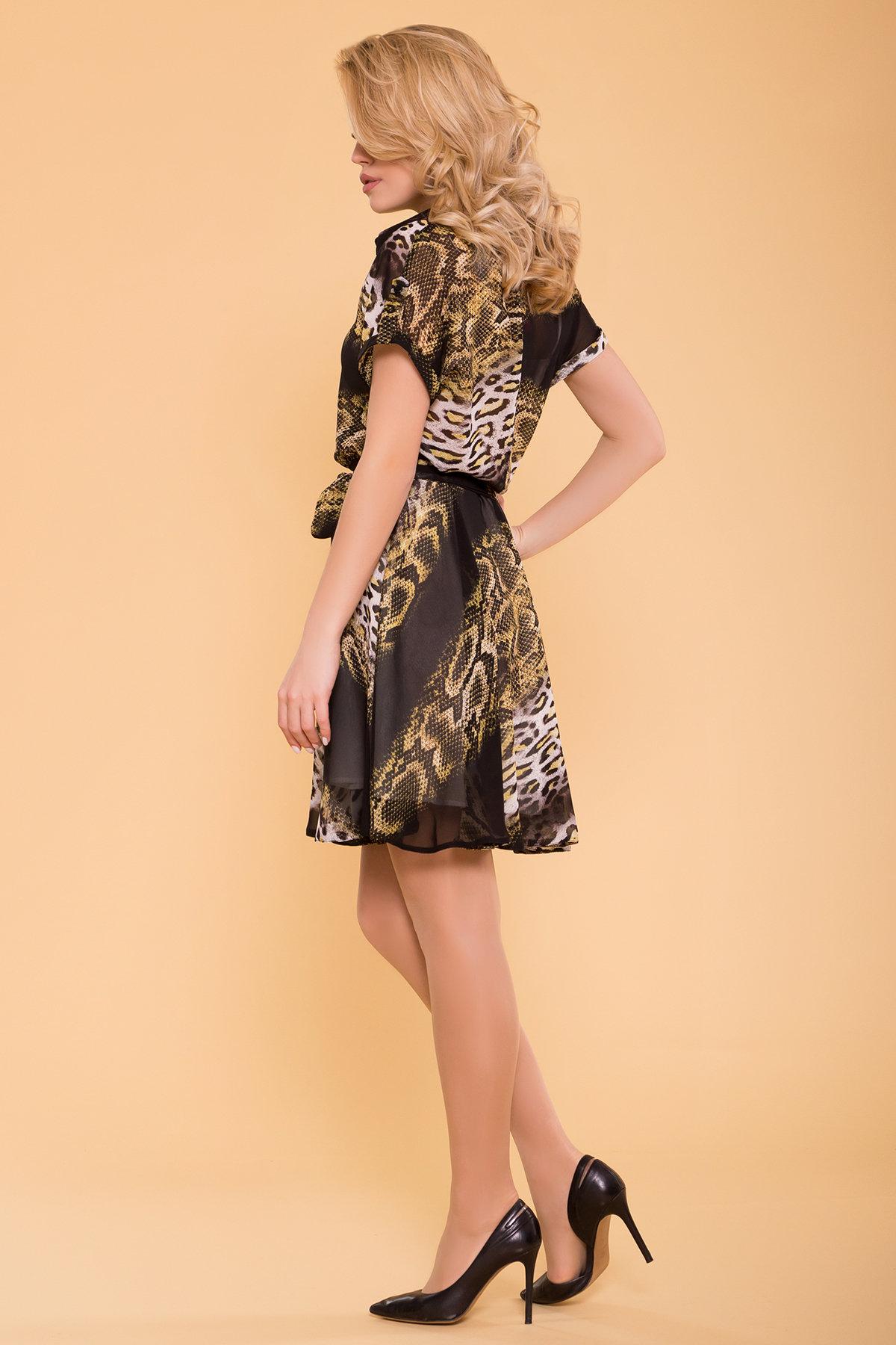 Платье Санжар 6935 АРТ. 42078 Цвет: Леоп абстр беж/чер - фото 2, интернет магазин tm-modus.ru