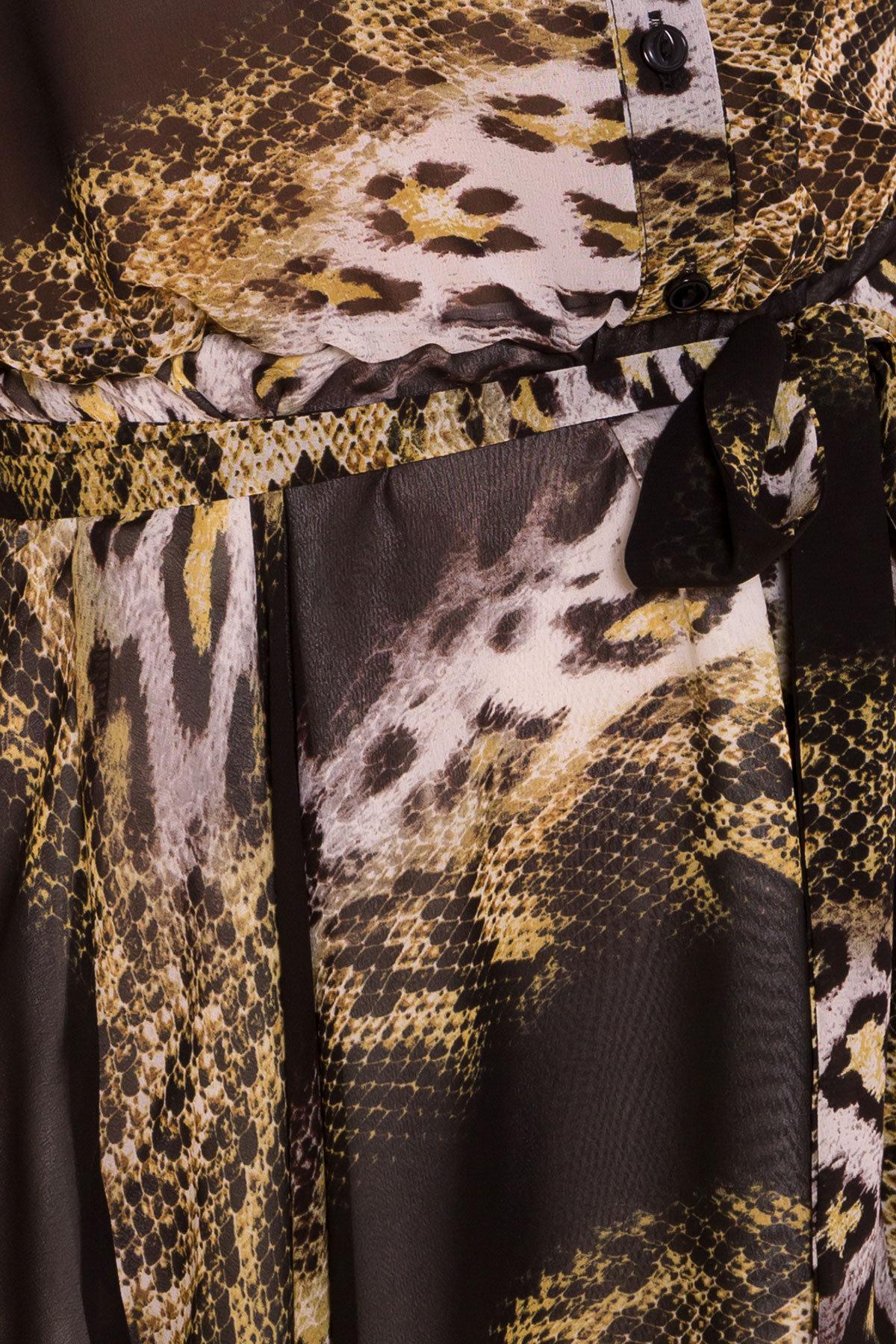 Платье Санжар 6935 АРТ. 42078 Цвет: Леоп абстр беж/чер - фото 4, интернет магазин tm-modus.ru