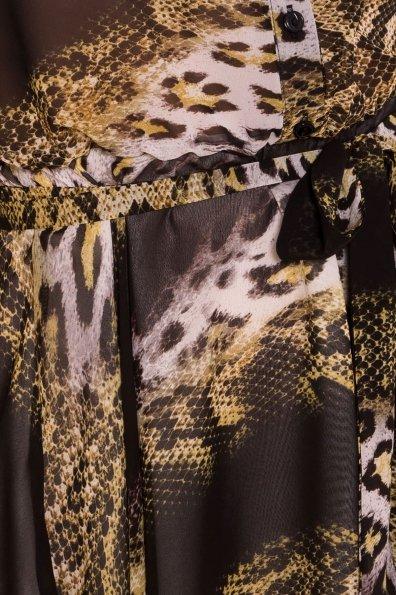 Платье Санжар 6935 Цвет: Леоп абстр беж/чер