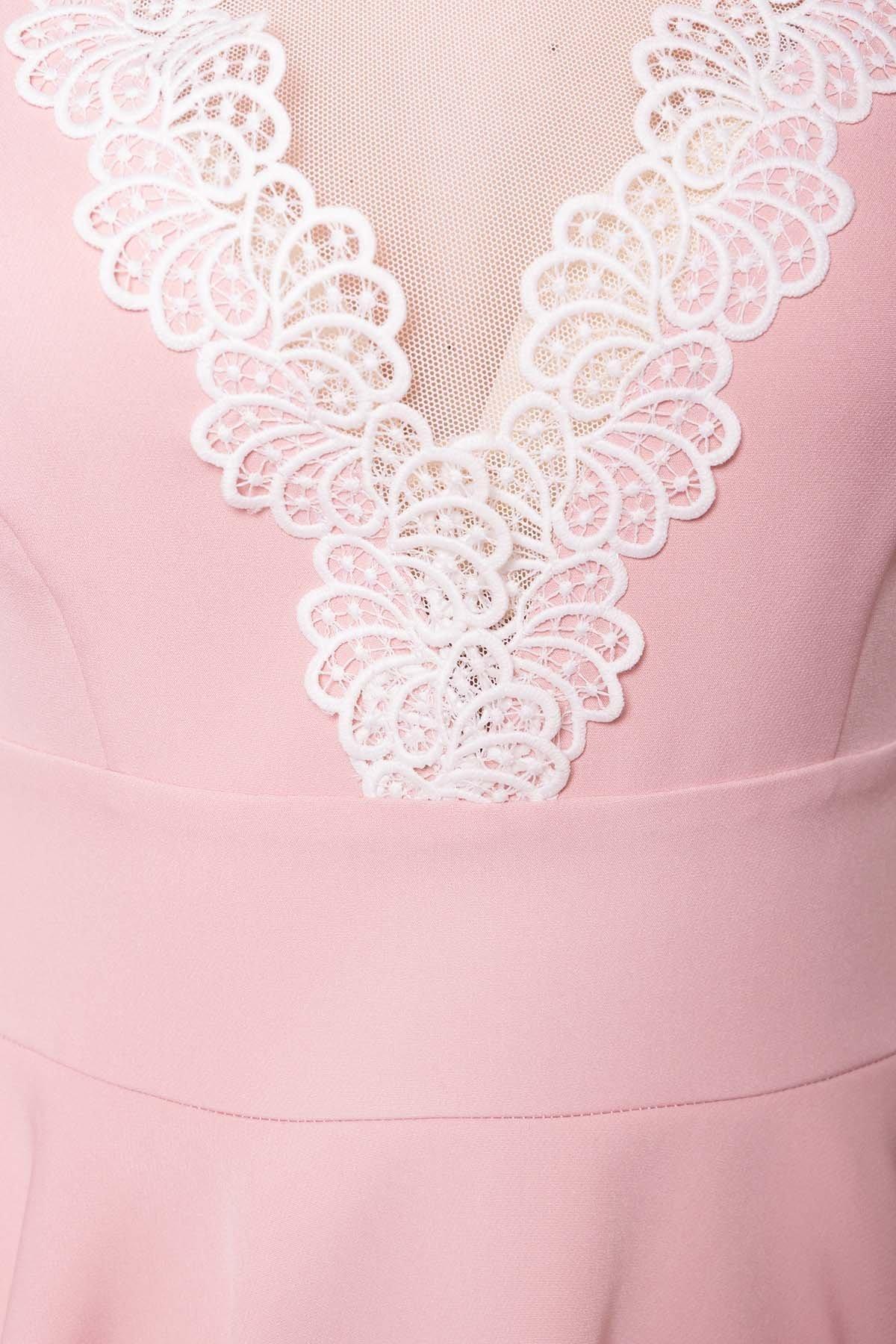 Абико платье из костюмной ткани 6651 Цвет: Пудра Светлая