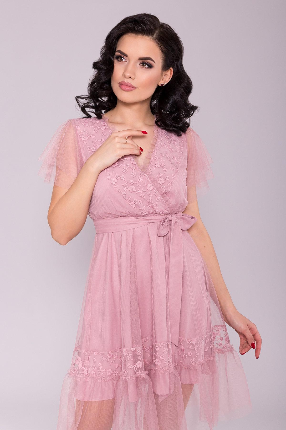 Платье Риана 6701 АРТ. 42072 Цвет: Серо-розовый 175 - фото 3, интернет магазин tm-modus.ru