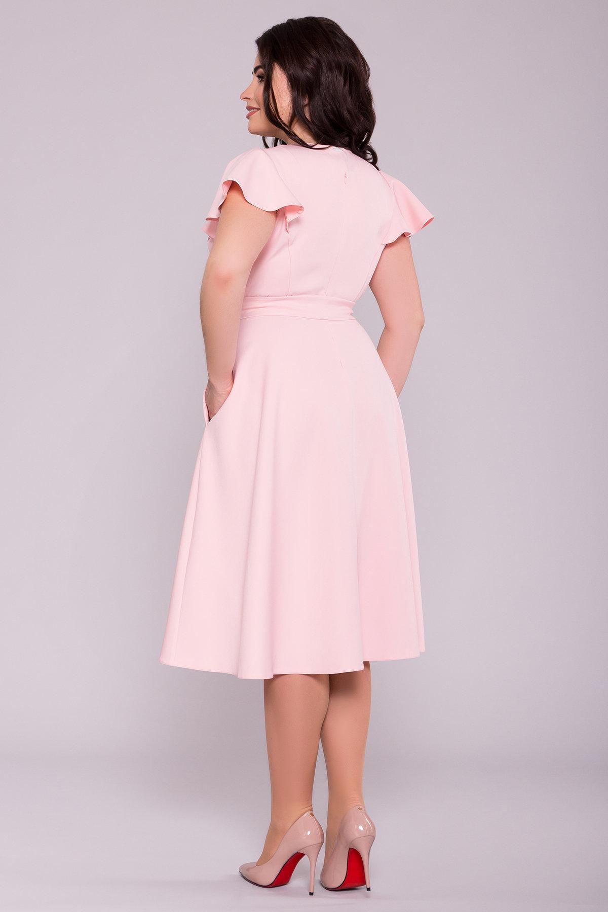 Платье Мидея миди DONNA 6831 Цвет: Пудра 6