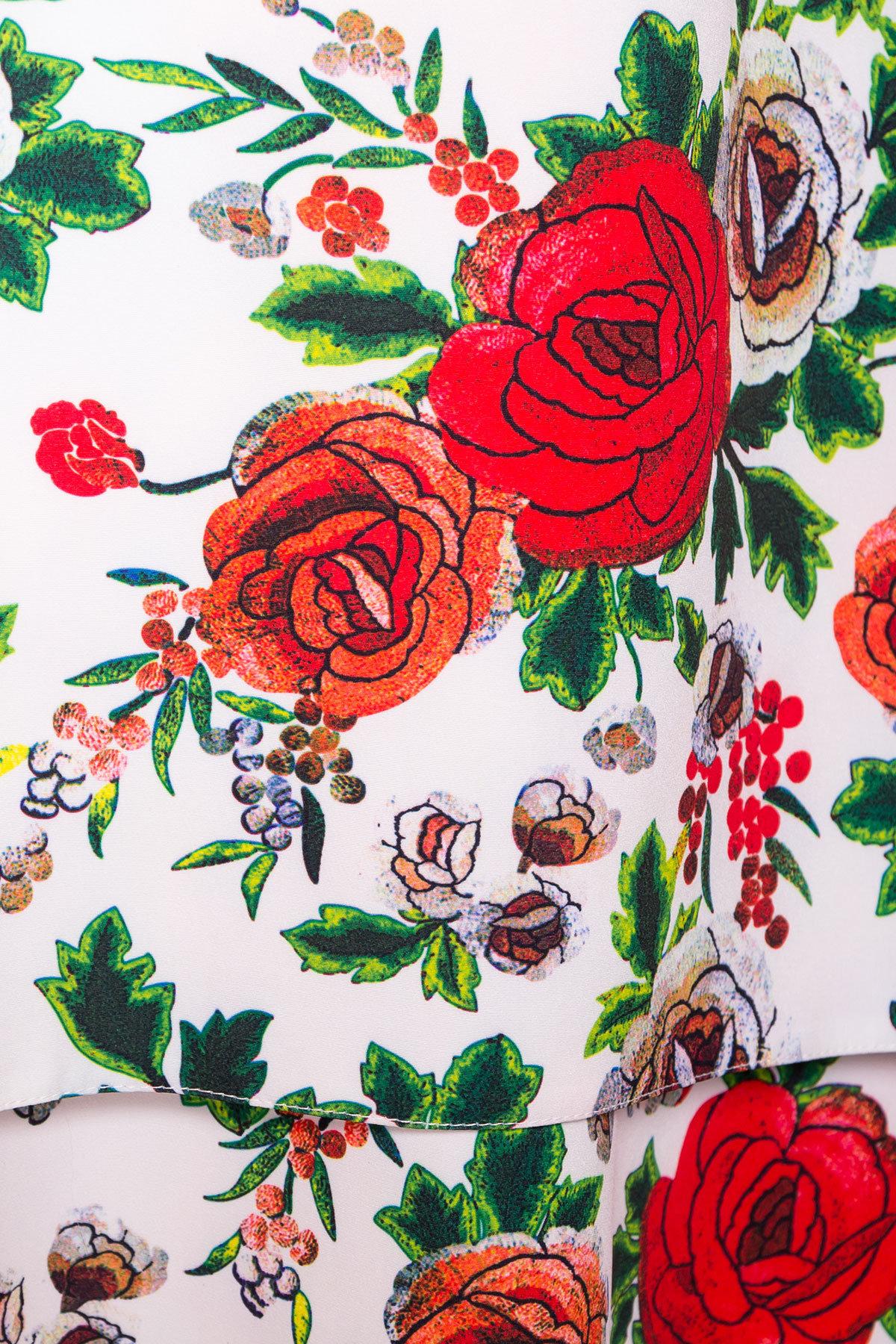 Платье Делафер DONNA 6885 АРТ. 42055 Цвет: Розы молоко/красный - фото 4, интернет магазин tm-modus.ru